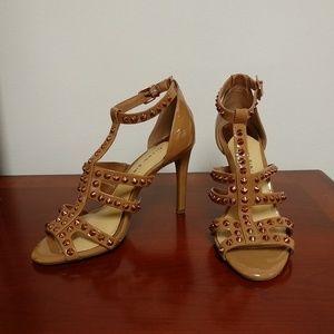 Gianni Bini patent leather heels with studs